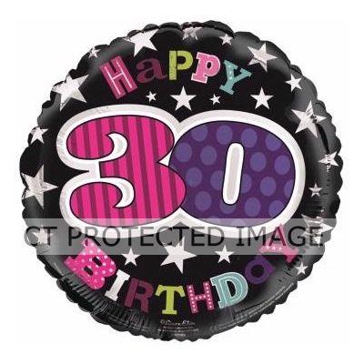 18 Inch 30th Birthday Female Foil Balloon