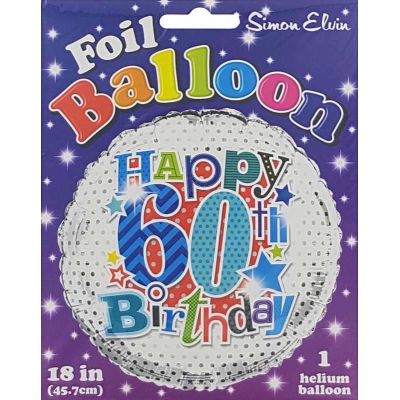 18 Inch 60th Male Foil Balloon