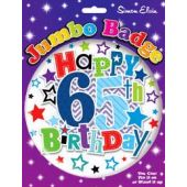 Male 65th Birthday Jumbo Badge
