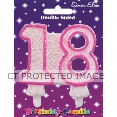 Pink  Age 18 Candle
