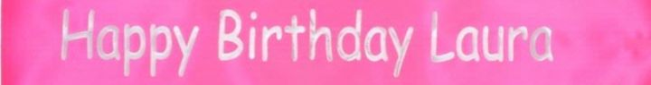 Hot Pink Personalised Banner