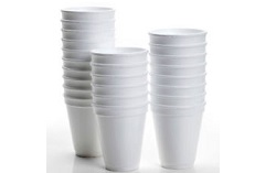 Polystyrene Plates, Bowls & Cups