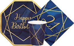 Navy & Gold Geode 21st Birthday