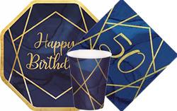 Navy & Gold Geode 50th Birthday