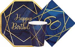 Navy & Gold Geode 60th Birthday