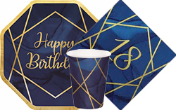 Navy & Gold Geode 18th Birthday