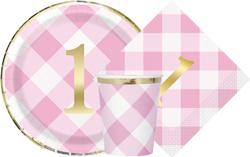 Pink Gingham 1st Birthday